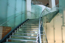 Glass & Steel Stair