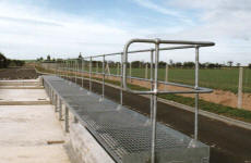 Galvanised open mesh walkway