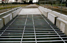 Galvanised steel roadway bridge